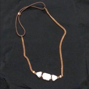 Henri Bendel necklace gold/ white